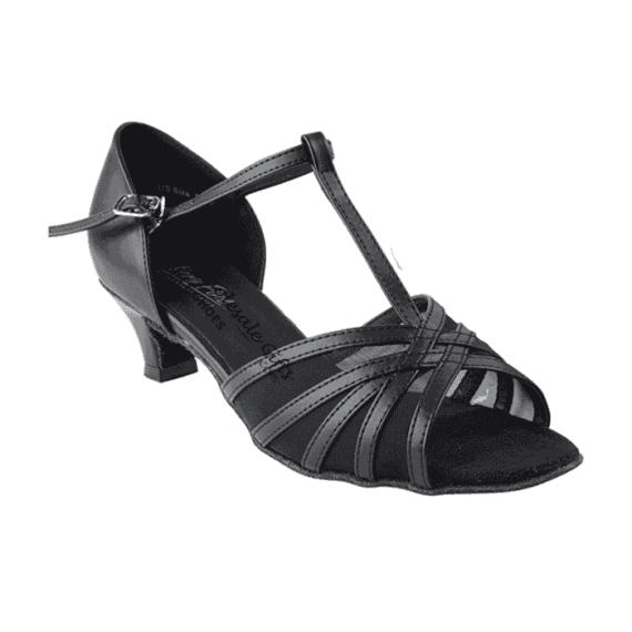 "16612 black leather Very Fine Dance Shoes 1.3"" for ballroom, salsa, practice"
