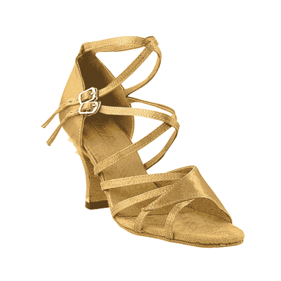 1662b brown Very Fine satin Dance Shoes for ballroom, salsa, Latin, wedding, party & tango
