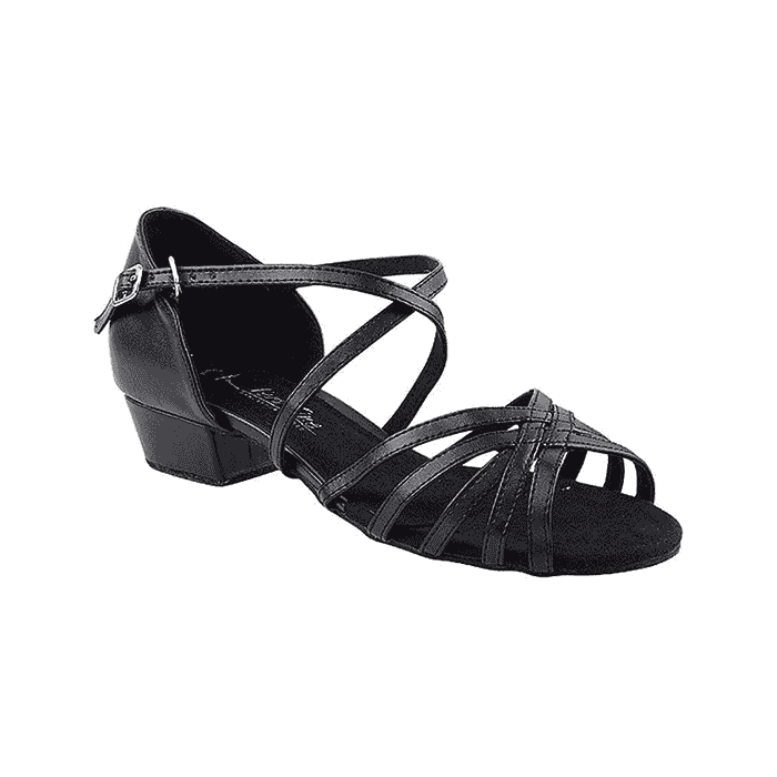 1670ft black Very Fine Dance Shoes for ballroom, salsa, Latin, practice, wedding, party
