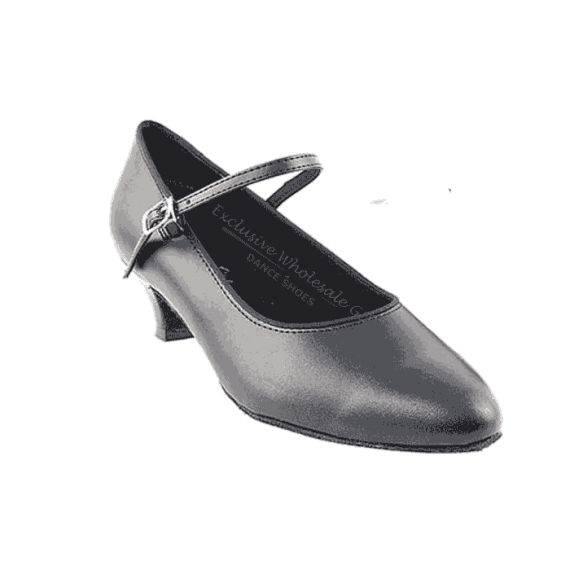 """1682 black 1.3 """" Very fine shoes for practice, salsa, ballroom and latin"""