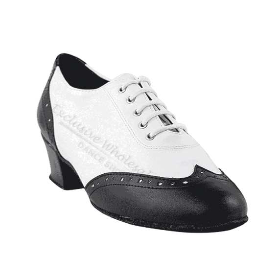 2008 black with white leather Very Fine Dance Shoes for ballroom, salsa, Latin, wedding, party & tango
