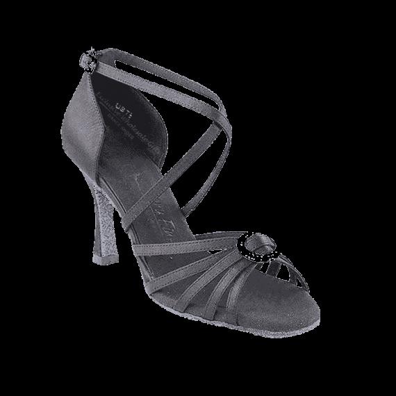 Sera1123 Very Fine X-Strap Satin Dance Shoes for ballroom, salsa, Latin, wedding, party & tango