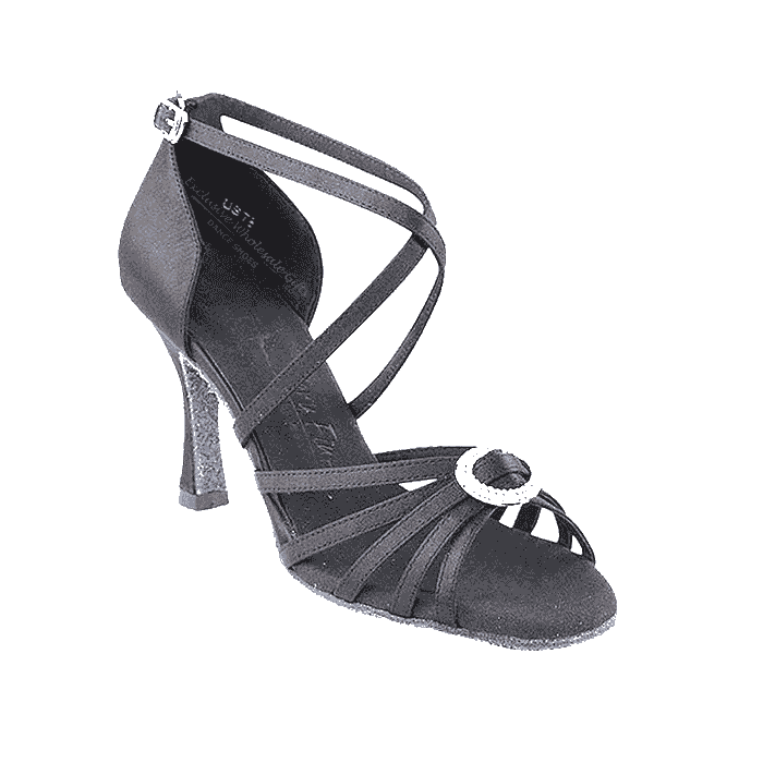 Sera1123 Very Fine X-Strap Satin Dance Shoes for ballroom, salsa, Latin, wedding, party & tango