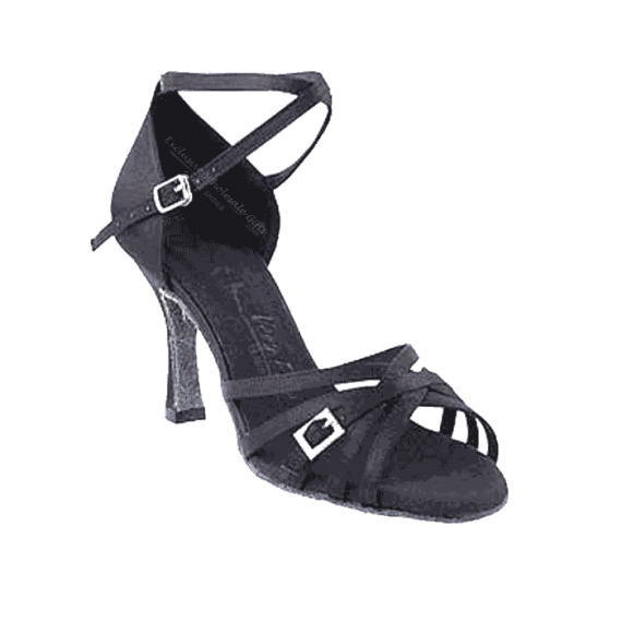 Sera1137 Very Fine X-Strap Satin Dance Shoes for ballroom, salsa, Latin, wedding, party & tango