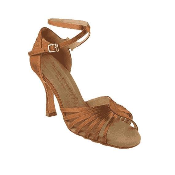 Sera1139 Very Fine X-Strap Satin Dance Shoes for ballroom, salsa, Latin, wedding, party & tango