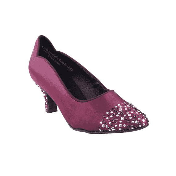 Sera5501-purple dance shoes for ballroom, salsa, Latin, wedding, party & tango