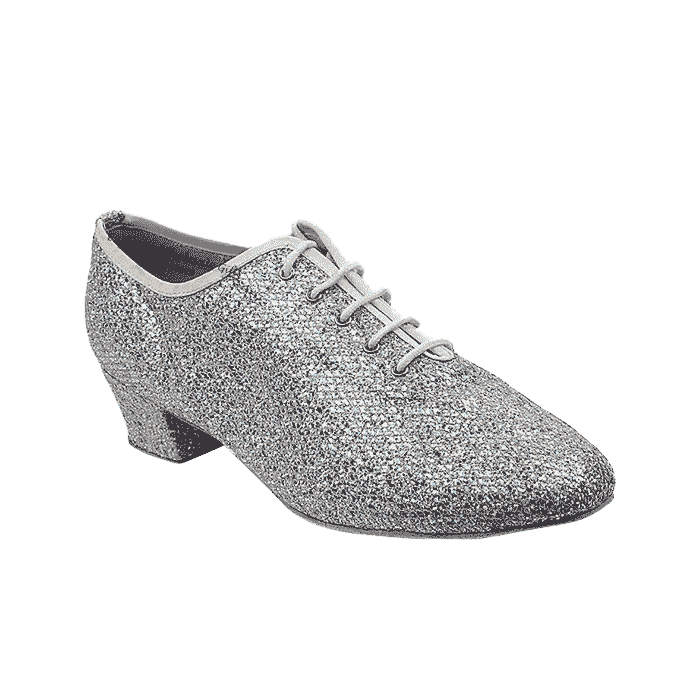 2302 6 Silver Sparklenet Very Fine Dance Shoes