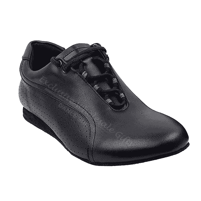 Sero101BBX Very Fine Leather Black Dance Shoes for ballroom, salsa, Latin, wedding, party & tango
