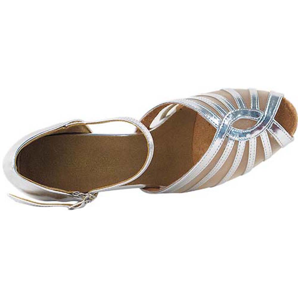 Women/'s Salsa Ballroom Tango Black Brown Silver Dance Shoes 2.5 3 Very Fine 2719
