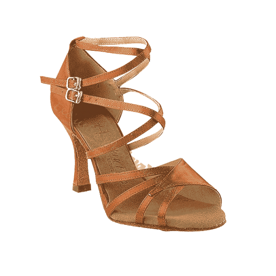Sera1662B-dark-tan Very Fine Dance Shoes for ballroom, salsa, Latin, wedding, party & tango