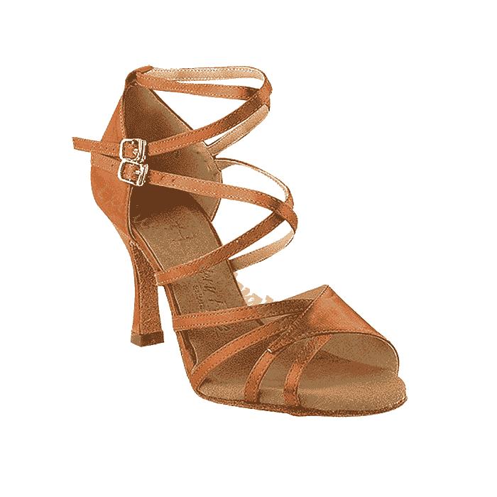 Sera1662B-dark-tan Very Fine Dance Shoes for ballroom, salsa, Latin, wedding, party & tango