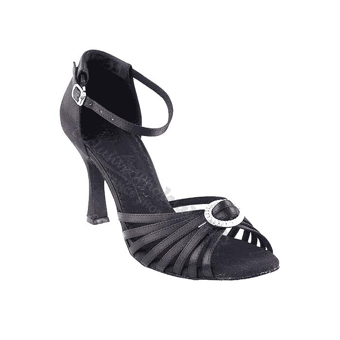 Sera1671B Black Very Fine Dance Shoes for ballroom, salsa, Latin, wedding, party & tango