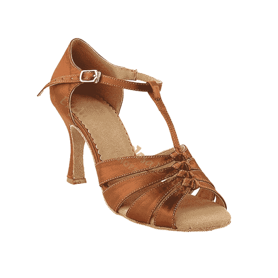 Sera1672 Dark tan Very Fine Dance Shoes for ballroom, salsa, Latin, wedding, party & tango