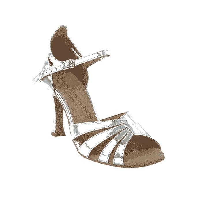 Sera1680 Silver Very Fine Dance Shoes for ballroom, salsa, Latin, wedding, party & tango