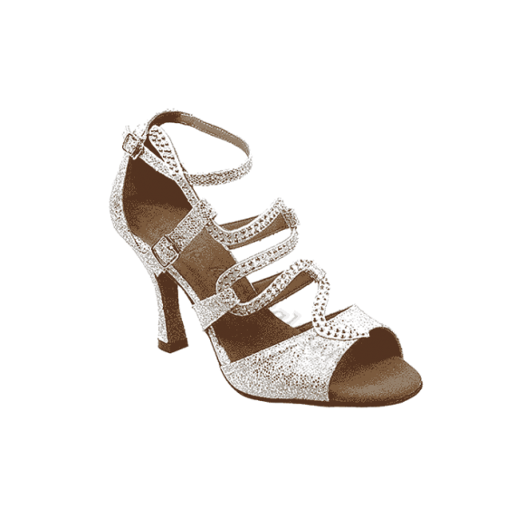 Sera7017 silver Very Fine Dance Shoes for ballroom, salsa, tango, wedding